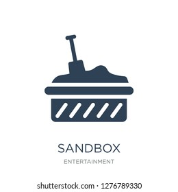 sandbox icon vector on white background, sandbox trendy filled icons from Entertainment collection, sandbox vector illustration