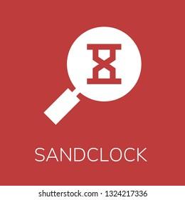 Sandclock icon. Editable  Sandclock icon for web or mobile.