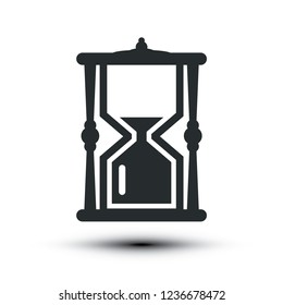 Sandclock Icon. Vector Hourglass Symbol.