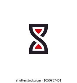 Sandclock / Infinity symbol / Initial S