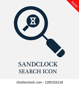 Sandclock search icon. Editable Sandclock search icon for web or mobile.