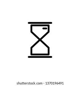Sandglass clock icon.