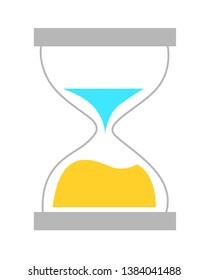 Sandglass symbol time vector icon