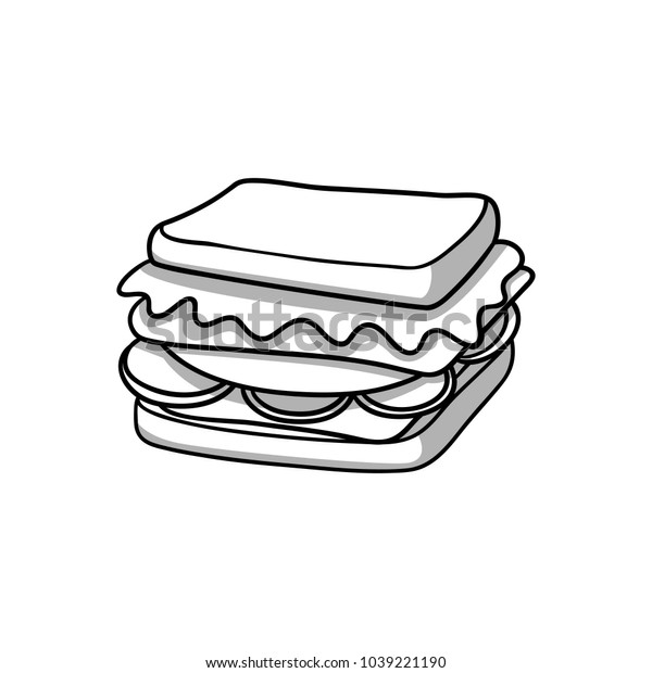 sandwich food icon black white doodle stock vector royalty free 1039221190 https www shutterstock com image vector sandwich food icon black white doodle 1039221190
