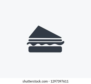 Sandwich icon isolated on clean background. Sandwich icon concept drawing icon in modern style. Vector illustration for your web mobile logo app UI design.