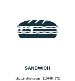 Sandwich icon. Mobile apps, printing and more usage. Simple element sing. Monochrome Sandwich icon illustration.