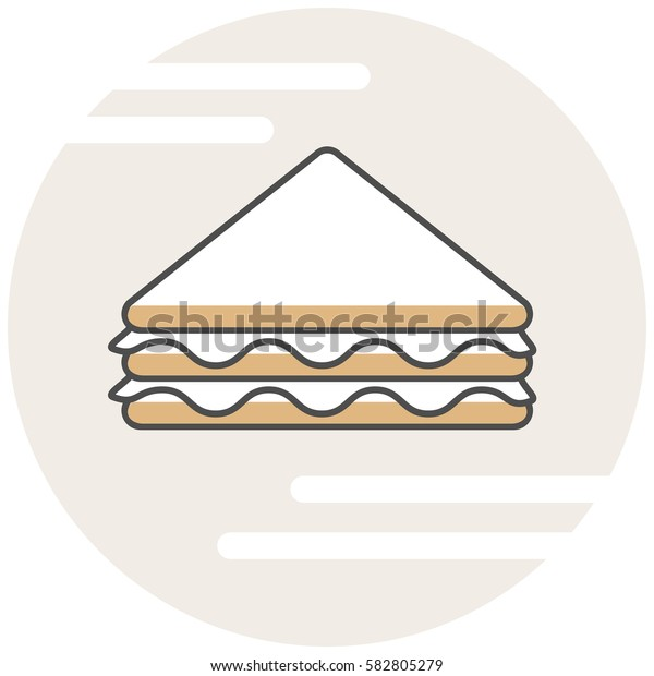 Sandwich - Infographic Icon Elements from Food Set. Flat Thin Line Icon Pictogram for Website and Mobile Application Graphics.
