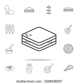Sandwich line icon. Detailed set of fast food icons. Premium quality graphic design. One of the collection icons for websites, web design, mobile app on white background