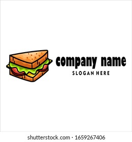 Sandwich Logo, Food Logo, Vector, Illustration, Fast Food Logo