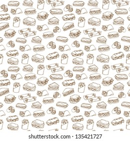 Sandwich & wrap background pattern