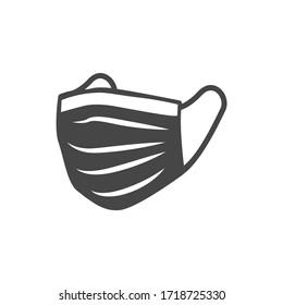 Sanitärversorgung und Schutzmaske Symbol Set mit Atemmasken
