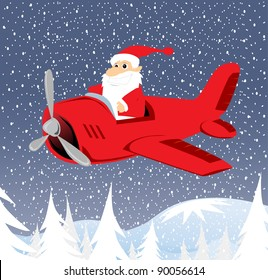Santa With Airplane