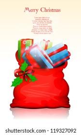 Santa bag eps10