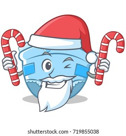 Santa with candy baby diaper character cartoon