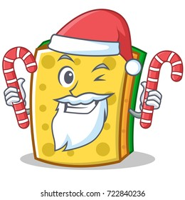 Santa with candy sponge cartoon character funny