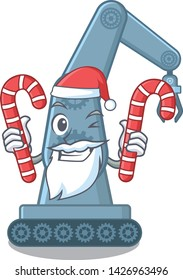 Santa with candy toy mechatronic robot arm cartoon shape