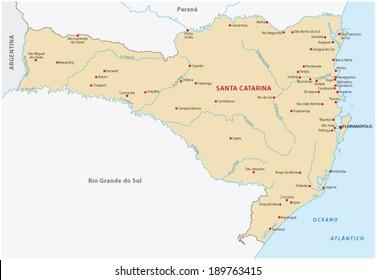 santa catarina map