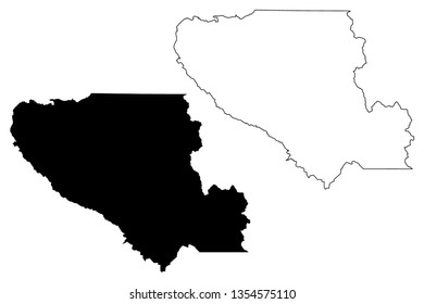 Santa Clara County, California (Counties in California, United States of America,USA, U.S., US) map vector illustration, scribble sketch Santa Clara map