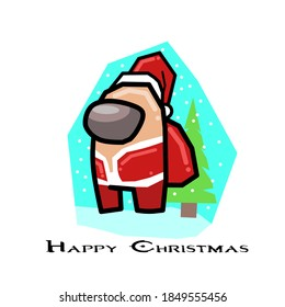 santa claus among characterhappy christmas 260nw 1849555456