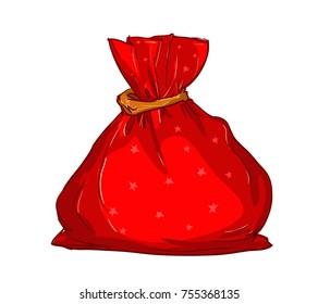 Santa Claus Bag Vector Illustration