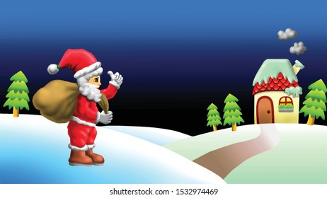 Santa Claus came to your house to give a Christmas present. Merry Christmas and Happy New Year. Christmas is full of happiness and blessings. Christmas to commemorate the birth of the Lord Jesus.