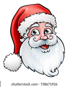 Santa Claus cartoon character, Christmas illustration