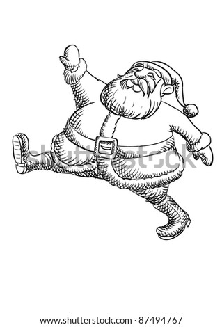 Santa Claus Cartoon Color Paint Stock Vector Royalty Free 87494767