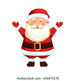 Santa Claus. Cartoon holiday character.