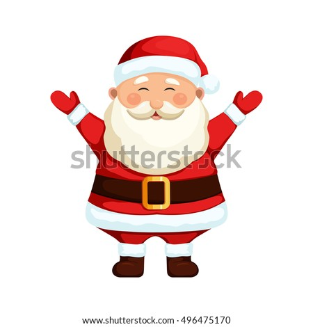 santa claus cartoon holiday character stock vector royalty free
