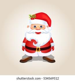 Santa Claus Character Cartoon Design Vector Illustration