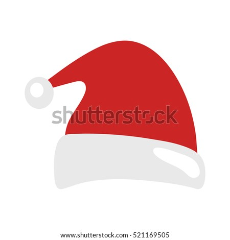 33bf9c4a895b3 Santa Claus Christmas hat isolated on white background. Happy New Year and  Merry Christmas decoration element. Vector illustration. - Vector