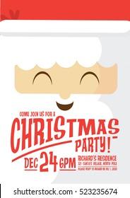 santa claus christmas party invitation card template vector/illustration