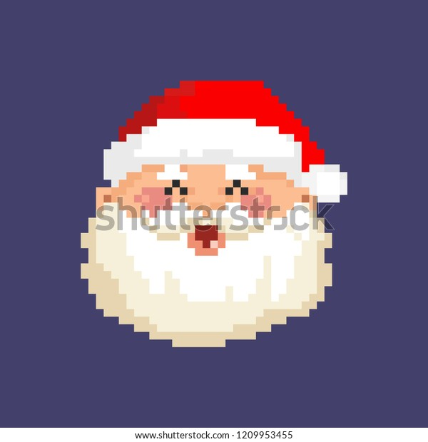 Image Vectorielle De Stock De Art Pixel De Noël Du Père