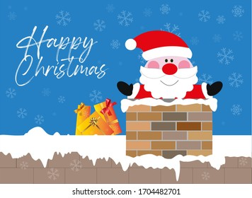 Santa Claus with christmas presents vector  illustration