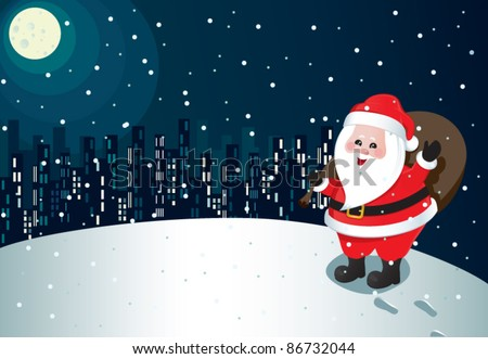Santa claus coming town stock vector royalty free 86732044