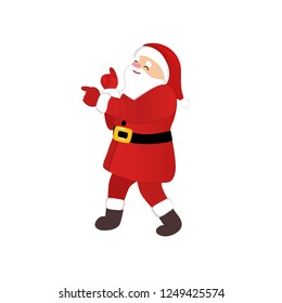 Santa Claus dancing cartoon style, funny disco dance, quirky comic animation character, isolated vector image, white background, 1970s style for print, motion design, greeting card, party invitation.