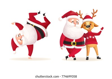 Christmas Dancing Cartoon.Imagenes Fotos De Stock Y Vectores Sobre Santa Dance