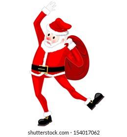 Santa Claus dancing vector