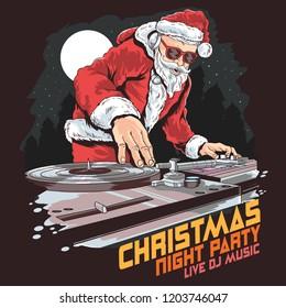 santa claus dj music party