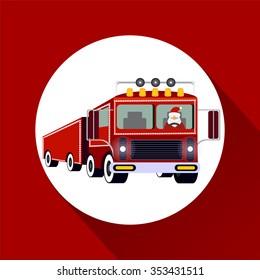 Santa Claus driving truck