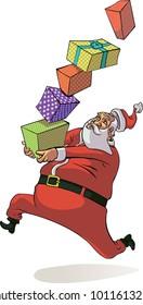Santa Claus during the Christmas holiday rush