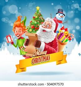 santa claus and elf