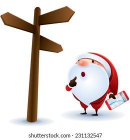 Santa Claus finding location.