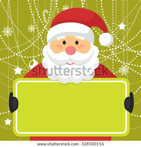 Santa Claus Greeting Card Copyspace Vector Stock Vector Royalty