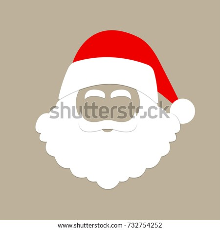 4cefc6f0e7d09 Santa Claus Hat Beard Christmas Mask Stock Vector (Royalty Free ...