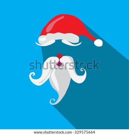 35666ef17b88a Santa Claus Hat Beard Template Vector Stock Vector (Royalty Free ...