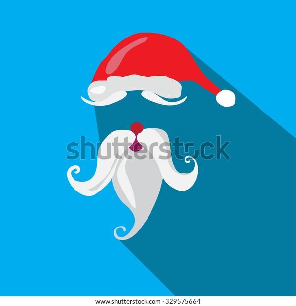 Santa Claus Hat Beard Template Vector Stock Vector Royalty Free