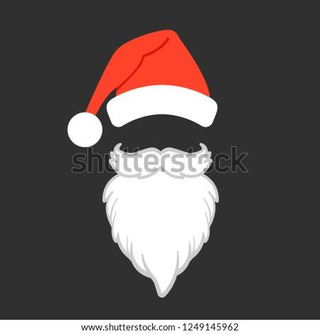 a0c9fbb8669 Santa Claus Hat Beard Santa Claus Stock Vector (Royalty Free ...