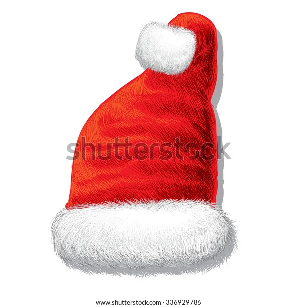 Santa Claus Hat Draw Vector On Stock Vector Royalty Free