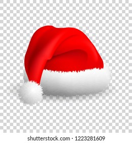 Transparent Christmas Hat.Santa Hat On Transparent Background Images Stock Photos